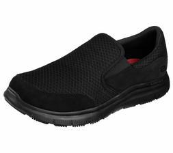 Work Black Skechers Shoe Men's Sport Comfort 77048 Mesh Slip