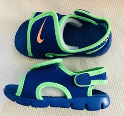 NIKE ADJUST Boy Toddler 6c Adjustable Water Shoes Sandals Bl