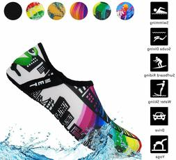Aifer Unisex Quick Dry Water Barefoot Shoes Lightweight Aqua