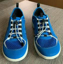 ECCO Aqua Sport Water Shoes Blue Women's 40, Good Condition
