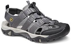 ATIKA AT-M107-GRY_Men 9 D Men's Sports Sandals Trail Outdoor