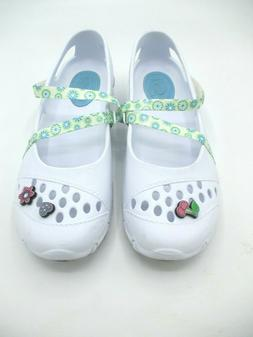 athletic white plastic washable water shoes cross