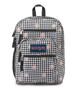big student backpack gingham daisy floral