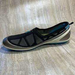 Ecco Biom Water Hiking Trail Shoes Sneaker Flat Zip Gray Wom