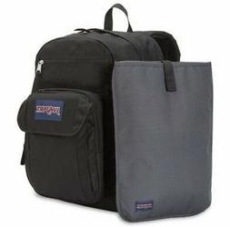 JanSport Black & Forge Grey Big Digital Student Backpack Lap