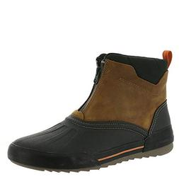 CLARKS Men's Bowman Top Boot, Dark Tan Leather, 8 W US