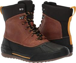 CLARKS Men's Bowman Peak Ankle Boot, Dark tan Leather, 080 M