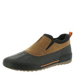 CLARKS Men's Bowman Free Rain Shoe, Dark tan Leather, 095 M