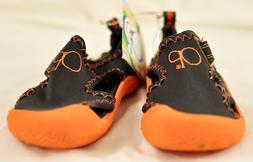 Boy's Op water shoes size small  orange hook/loop strap padd