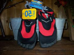 NEWTZ BOYS WATER SHOES SIZE 4-5 COLOR RED BLACK KIDS BEACH P