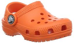 crocs  Unisex kids Kids' Classic K Clog, Tangerine, 13 M US