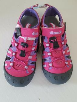 Kamik girl's Crab water shoes sandal sport hike rose pink li