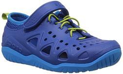 Crocs Unisex Swiftwater Play Shoe K Sneaker, Blue Jean, 12 M