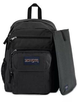 JanSport Digital Student Backpack W Laptop Sleeve Black/Forg
