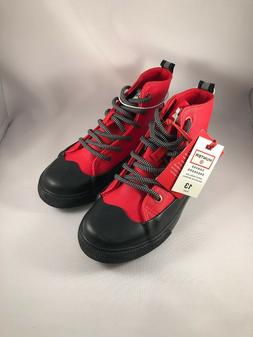 dipped canvas red high top sneakers new