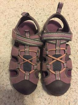 Clarks Doodles Purple Sandals Water Shoes in Girl's size US