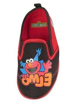Sesame Street Boys' Elmo Aqua Socks Water Shoes, Red/Black,