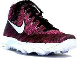 Nike Flyknit Chukka Spikeless Water Resistant Purple Black