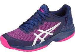 ASICS Women's Gel-Court Speed Blue Print/Pink Glo 7.5 B US