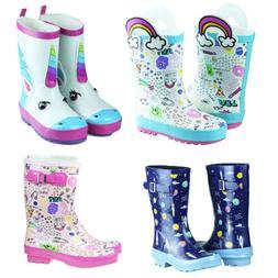 Girls Boys Cute Pattern Rain Boots Toddler Little Big Kids R