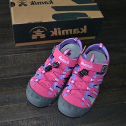 Kamik Girls Crab Water Shoe, Pink Purple, Size 2 kids