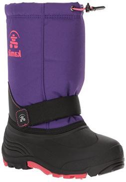 Kamik Girls' Rocket Snow Boot, Purple/Rose, 3 Medium US Litt