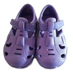 Girls Water & Land Shoes Sizes 3, 4, 5 Purple Soft Hook and