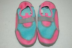 Girls Water Shoes LT PINK, AQUA, GRAY Beach Swimming SIZE 11