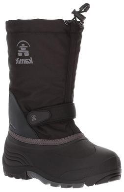 Kamik Girls' Waterbug5 Snow Boot, Black/Charcoal, 5 Medium U