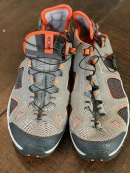 Salomon Grey Orange Mesh Hiking Trail Running Water Shoes Me
