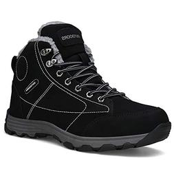 Mens Hiking Trekking Snow Boots Winter Waterproof Shoes Lace