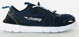 Speedo Hybrid Watercross Mens 8 Water Shoe Navy White 360 Dr