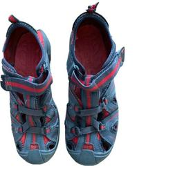 Merrell Hydro Water Shoes Bumper Toe Sandals Gray/ Red Size