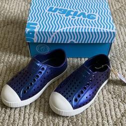 Native Jefferson Iridescent Regatta Blue Slip On Water Shoes