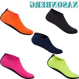 NASONBERG Kids Barefoot Water Shoes Skin Aqua Socks For Girl