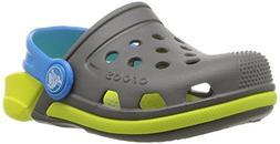 Crocs Kids' Electro 3 Clog K, Slate Grey/Tennis Ball Green ,
