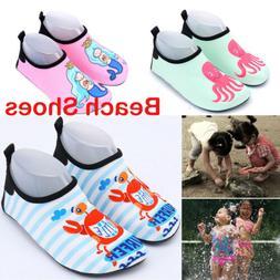Kids Boys Girls Water Aqua Shoes Children Sport Beach Swim E