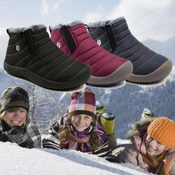 Kids Boys Girls Winter Snow Boots Water Resistant Fully Fur