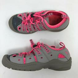 Clarks Kids Girls Water Shoes Sandals Size 12 Pink Gray Fish