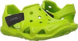 crocs Kids' Swiftwater Wave K Slip-On, Volt Green, 10 M US T