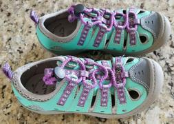 CLARKS Kids Water Land-Friendly Shoes  Teal/Purple