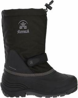 Kamik Kids' Waterbug5 Snow Boot, Black/Charcoal, Size 4.0 sZ