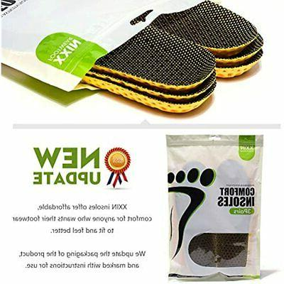 3 Pairs Breathable Insoles Water Shoes Sports Replacement