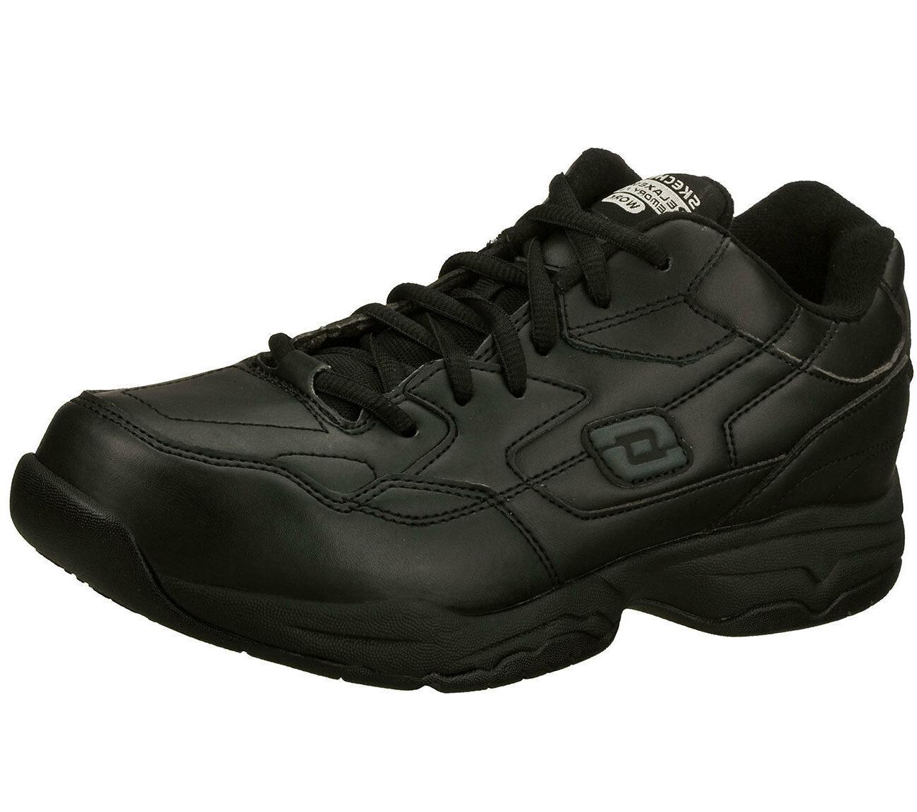 77032 black shoe memory foam work men