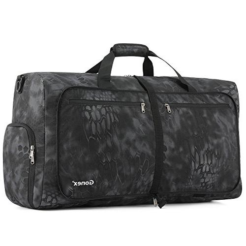 Gonex 80L Foldable Travel Duffle Bag for Luggage, Gym, Sport