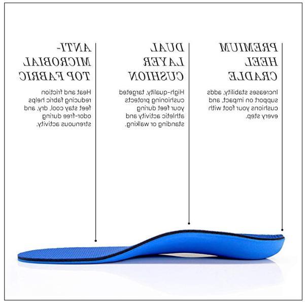 Powerstep Adult Shoe Inserts, Men's Women's 8-8.5