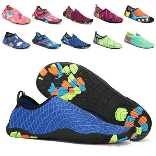 adults and kids aqua socks water shoes