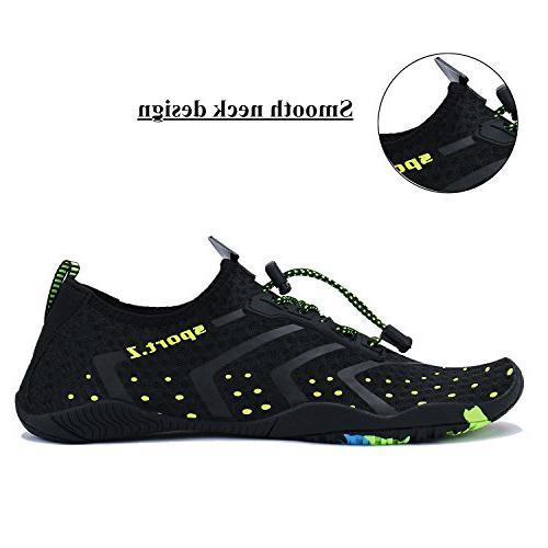 WXDZ Athletic Aqua Water Shoes for Water Sport Beach Pool Boat Surfing 1-black, 12 US Women/11 Men, 44 EU