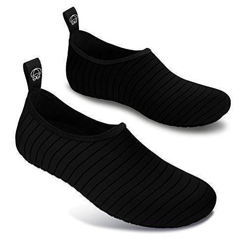 JIASUQI Mens Walking Sandals Shoes Black 7.5-8.5 Women, 6.5-7.5