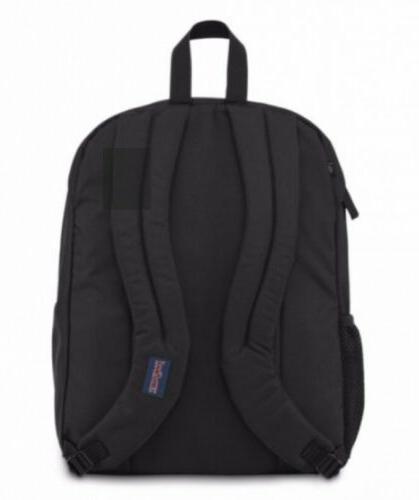 JanSport Black Grey Big Backpack Laptop School Pack